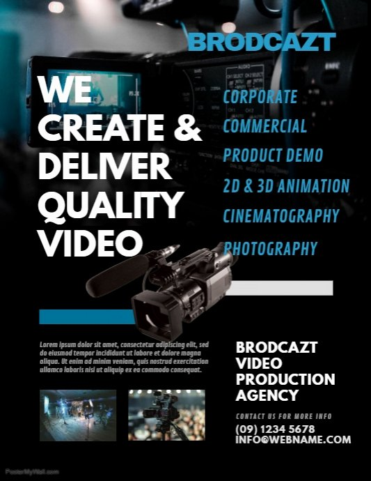Casting Call Flyer Template Unique Video Production Agency Flyer Template