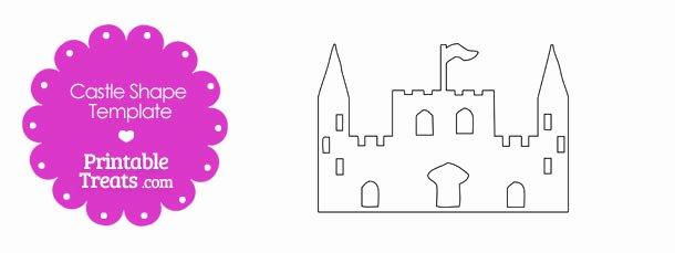 Castle Templates Printable Beautiful Printable Castle Shape Template — Printable Treats