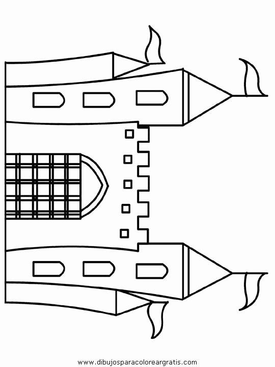 Castle Templates Printable Best Of Dibujos Para Colorear Edad Media