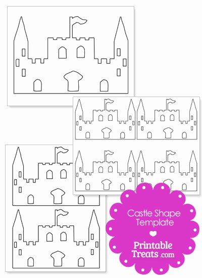 Castle Templates Printable Elegant Printable Castle Shape Template — Printable Treats