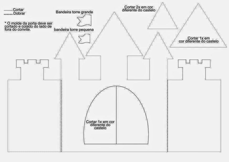 Castle Templates Printable Lovely Tarjeta O Invitación Con forma De Castillo De Princesa