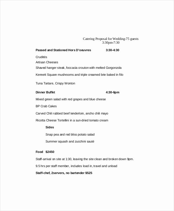 Catering Estimate Template Elegant Catering Proposal Template 9 Free Word Pdf Documents