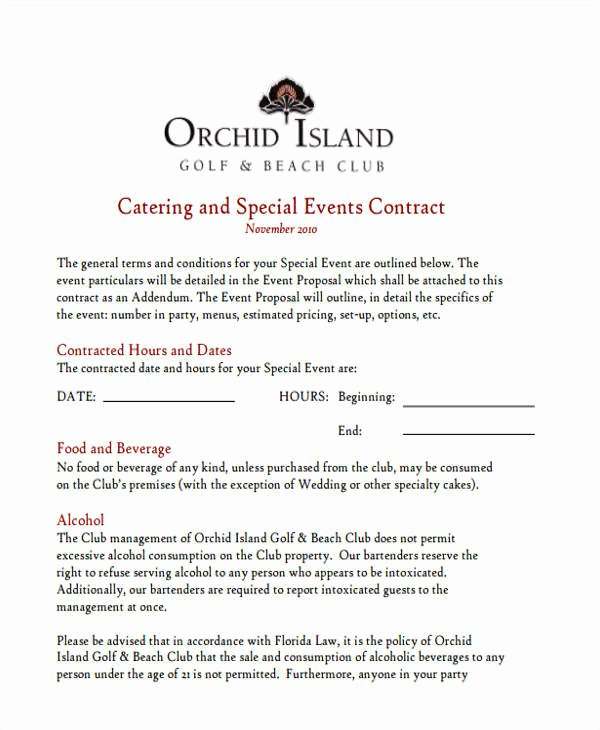 Catering Estimate Template Luxury 5 Catering Proposal Template Examples In Word Pdf