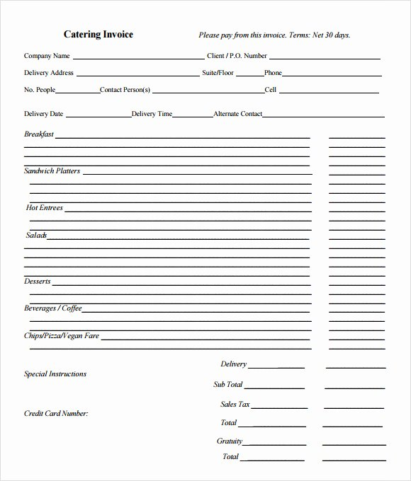 Catering Estimate Template New 11 Catering Invoice Templates – Free Samples Examples