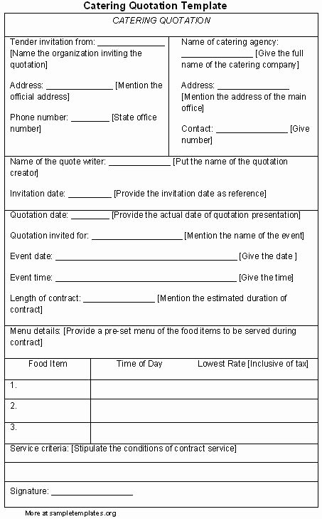 Catering forms Templates Awesome Catering Quotes Image Quotes at Hippoquotes