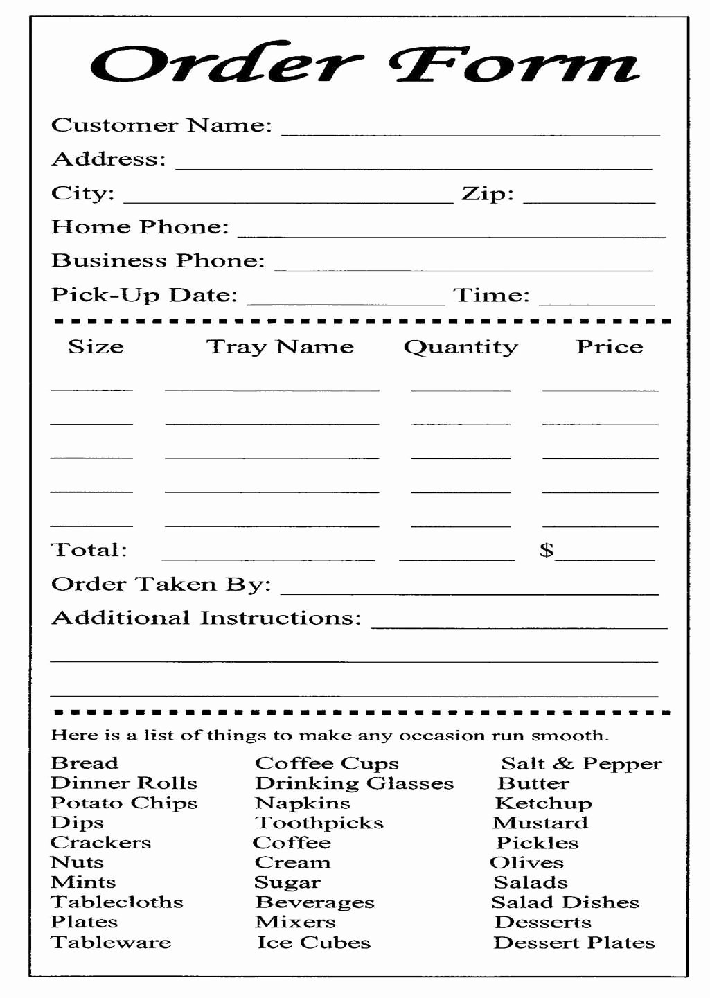 Catering forms Templates Lovely Cake Ball order form Templates Free