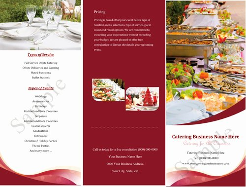 Catering Quote Template Free Fresh Catering Quotes Samples Informal Quotesgram