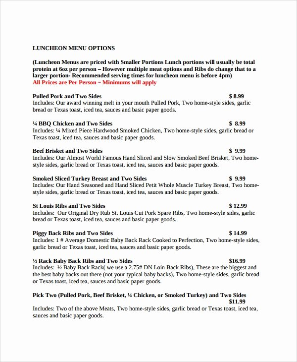 Catering Quote Template Free Fresh Sample Catering Quote 6 Documents In Pdf Word