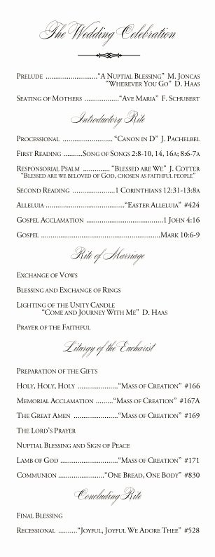 Catholic Wedding Ceremony Program Templates Best Of 25 Best Wedding Programs Simple Ideas On Pinterest
