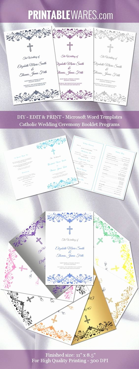 Catholic Wedding Ceremony Program Templates Elegant Pinterest • the World's Catalog Of Ideas