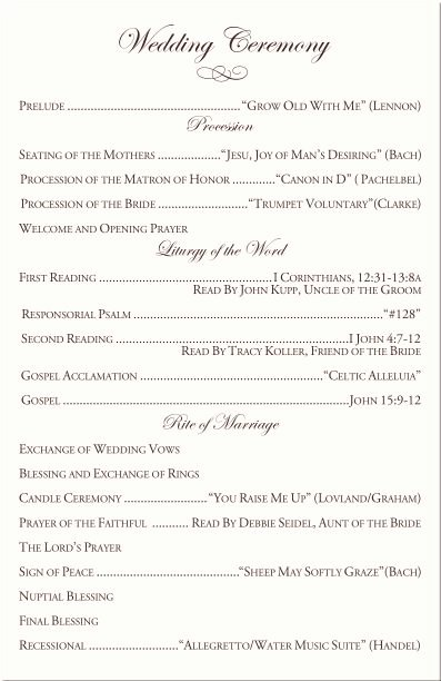 Catholic Wedding Ceremony Program Templates Fresh 25 Best Ideas About Catholic Wedding Programs On