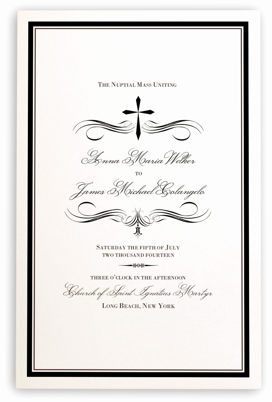 Catholic Wedding Mass Program Template Elegant Christian and Catholic Wedding Program Templates Progr and
