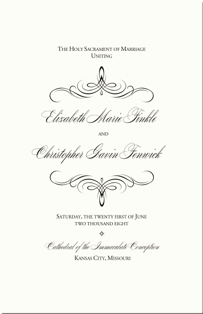 Catholic Wedding Mass Program Template Inspirational Catholic Wedding Program