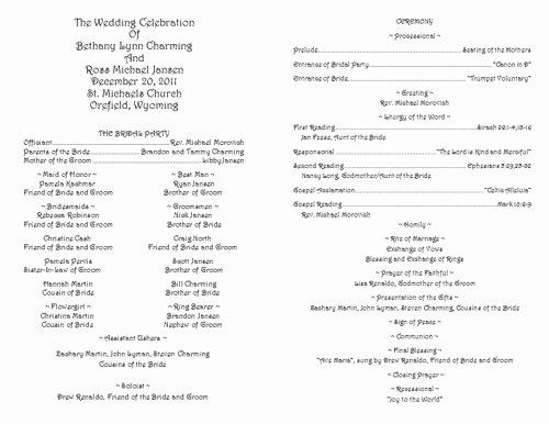 Catholic Wedding Mass Program Template Lovely Pinterest • the World's Catalog Of Ideas