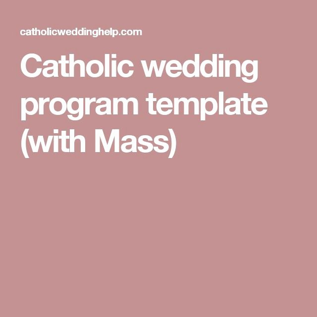 Catholic Wedding Mass Program Template Unique 53 Best Images About Etc On Pinterest