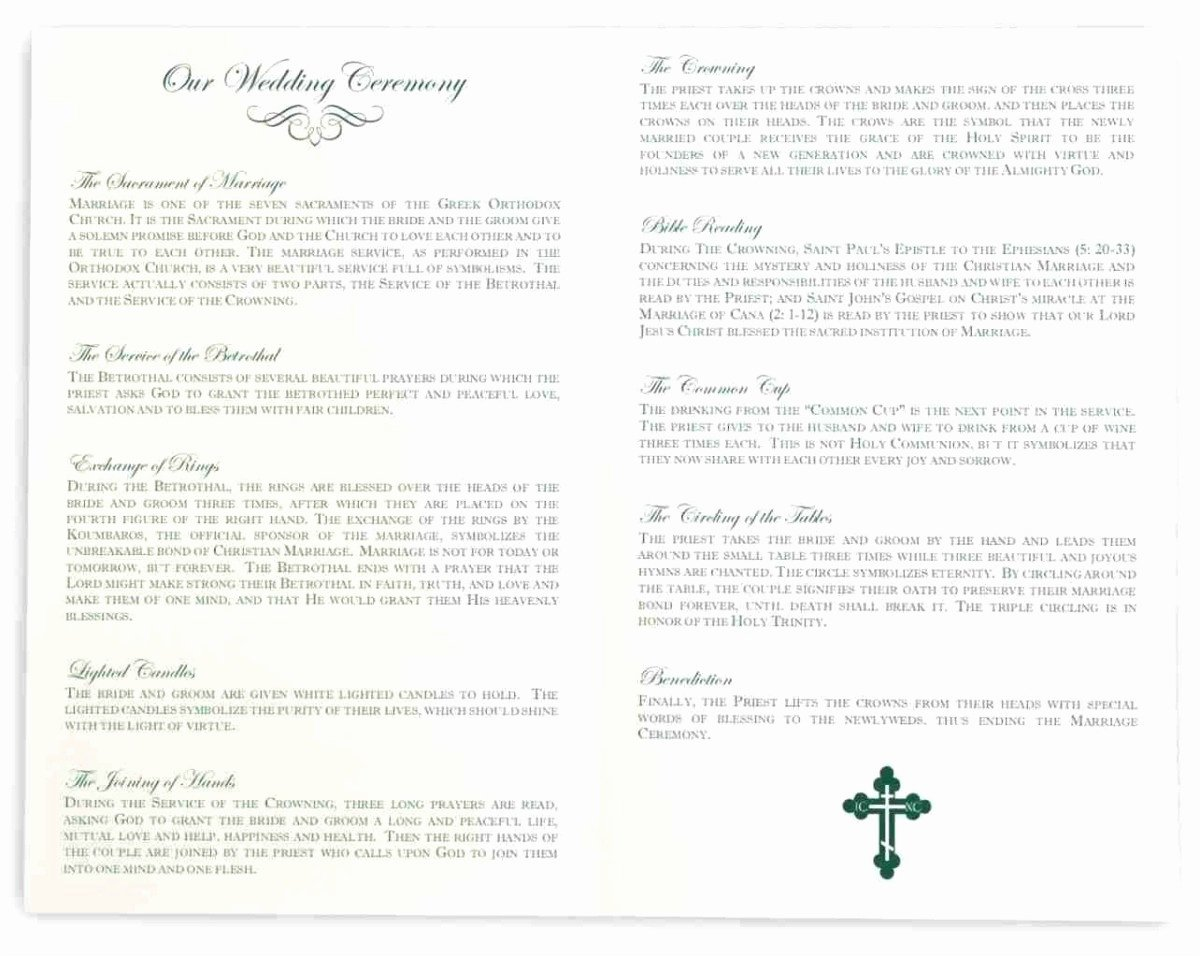 Catholic Wedding Program Template without Mass Beautiful 22 Catholic Wedding Ceremony Program Template with Mass