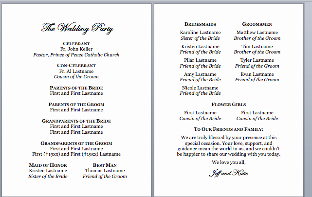 Catholic Wedding Program Template without Mass Luxury Spirals & Spatulas Catholic Wedding Program