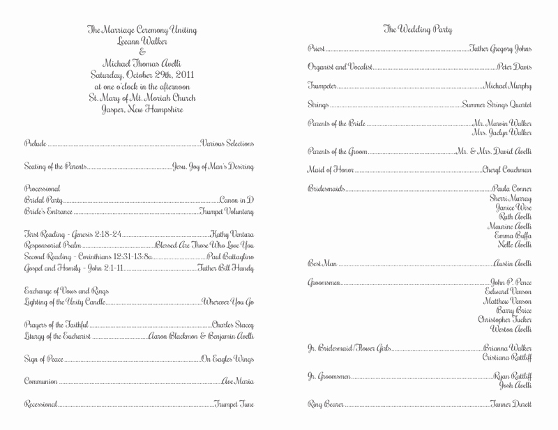 Catholic Wedding Program Template without Mass Luxury Wedding Program Templates Wedding Programs Fast