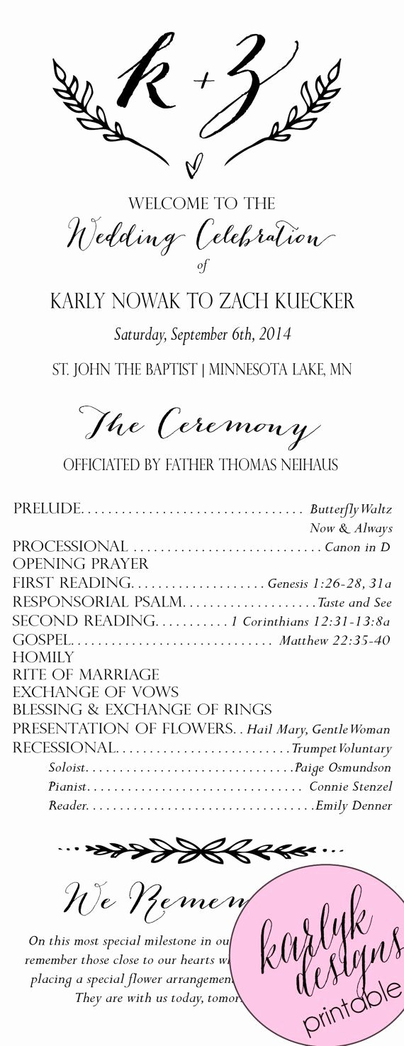 Catholic Wedding Program Template without Mass Unique the 25 Best Catholic Wedding Programs Ideas On Pinterest