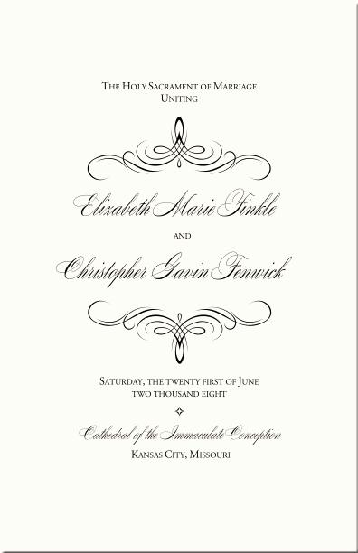 Catholic Wedding Program Templates Free Beautiful Catholic Wedding Program