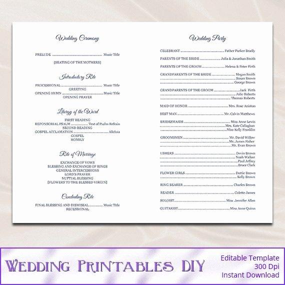 Catholic Wedding Program Templates Free Fresh Catholic Wedding Program Template Diy Navy Blue Cross