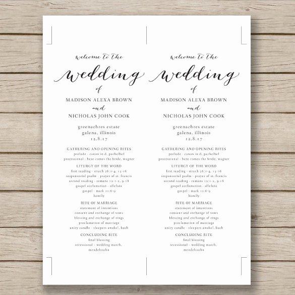Catholic Wedding Program Templates Free Inspirational Wedding Program Template 41 Free Word Pdf Psd