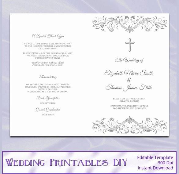 Catholic Wedding Program Templates Free Luxury 44 Wedding Program Templates Free Download
