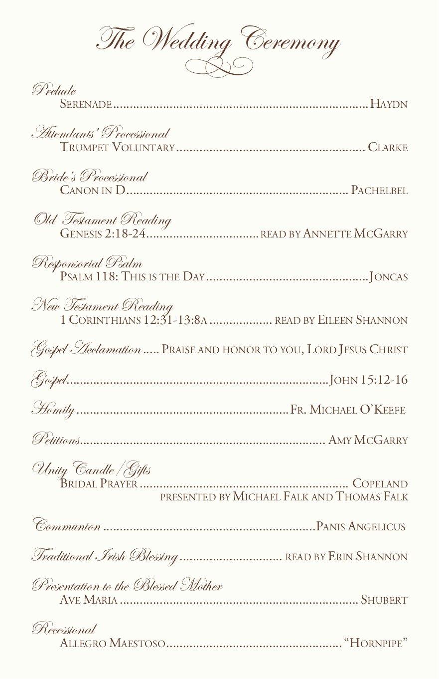 Catholic Wedding Program Templates Free Luxury Catholic Wedding Program Examples by Jrnwecordia On Deviantart