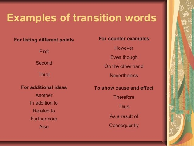 Cause and Effect Transitions Lovely Essay Writing