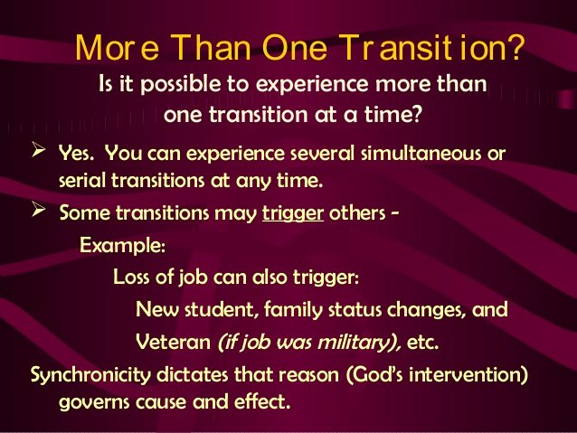 Cause and Effect Transitions New Crisis Counseling Ii Chapter 12 Life Transitions