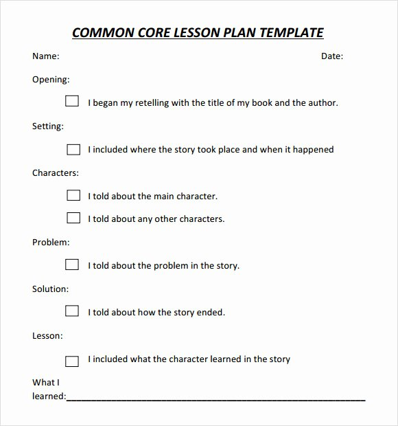 Ccss Lesson Plan Templates Beautiful 7 Sample Mon Core Lesson Plan Templates to Download
