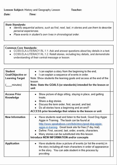 Ccss Lesson Plan Templates Inspirational Mon Core History Lessons Free Lesson Plan Template