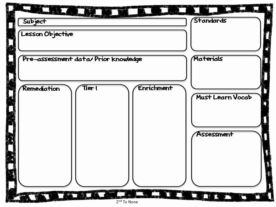 Ccss Lesson Plan Templates Lovely 2nd to None