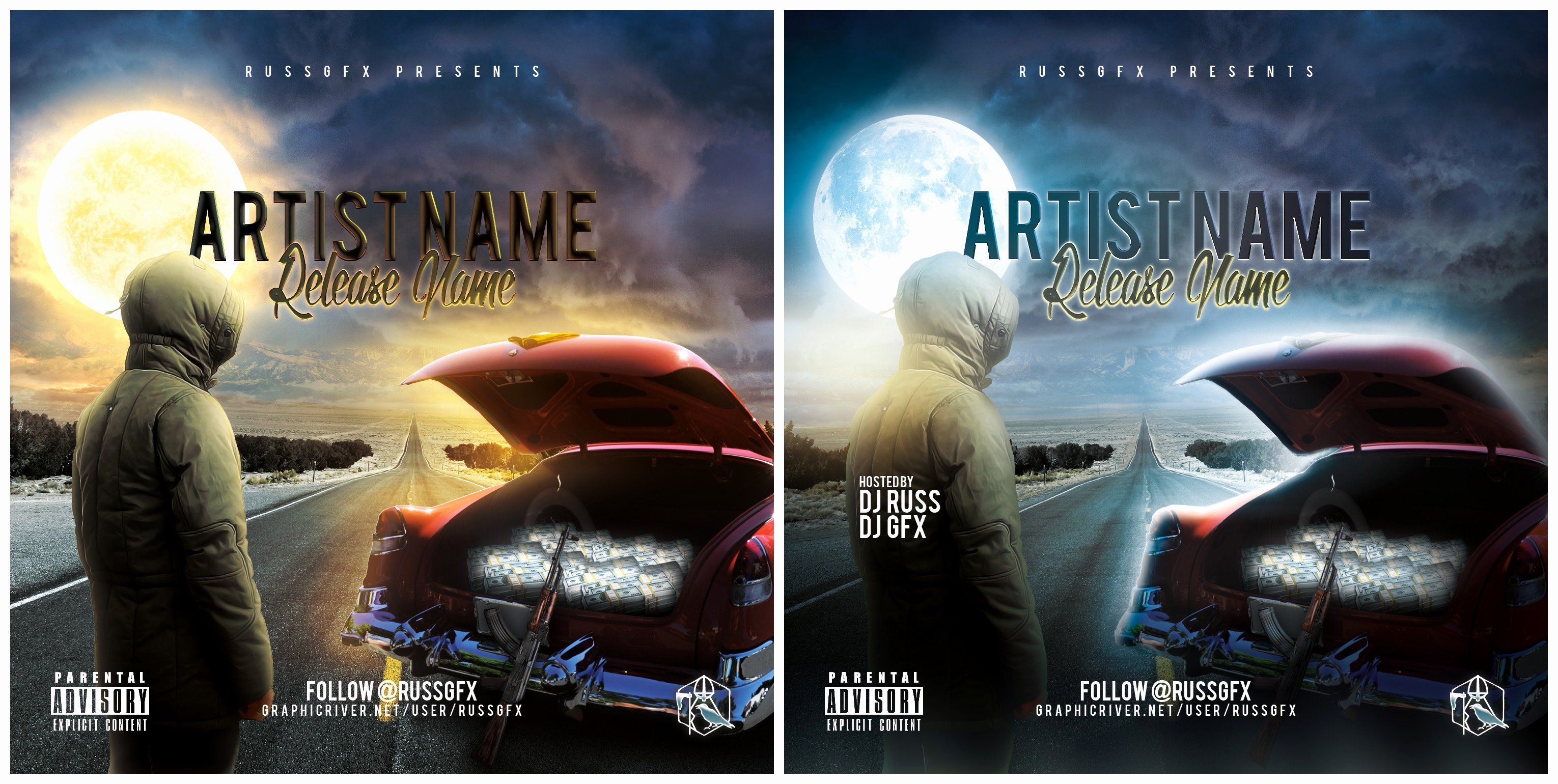 Cd Cover Template Psd Awesome the Road Psd Cd Cover Template Free Download by Russgfx