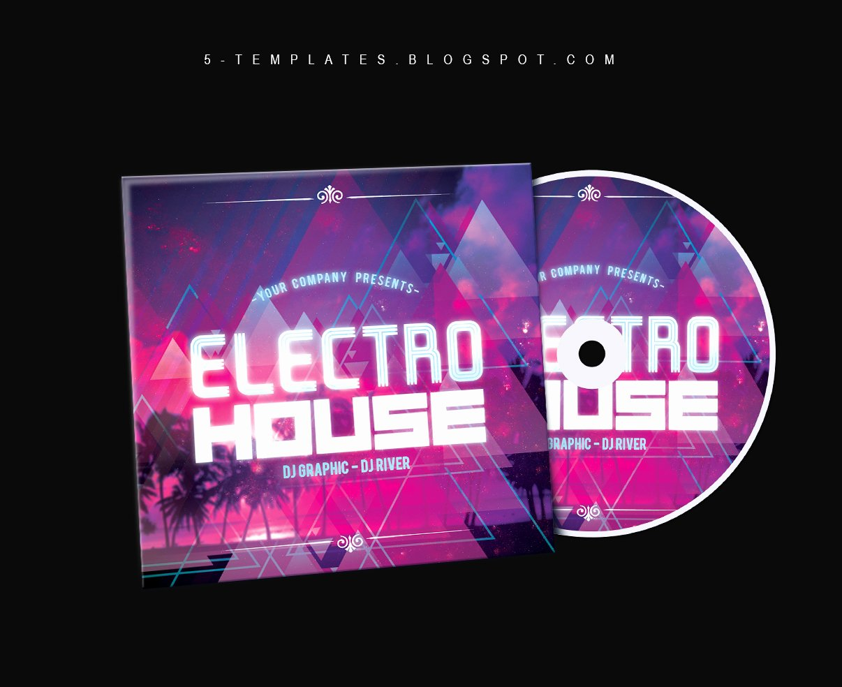 Cd Cover Template Psd Best Of Electro House Cd Cover Free Psd Template by Klarensm On