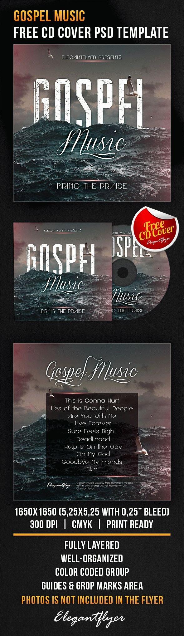 Cd Cover Template Psd Lovely Gospel Music – Free Cd Cover Psd Template – by Elegantflyer