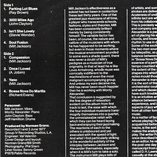 Cd Liner Notes Template Awesome Milt Jackson and the Monty Alexander Trio soul Fusion