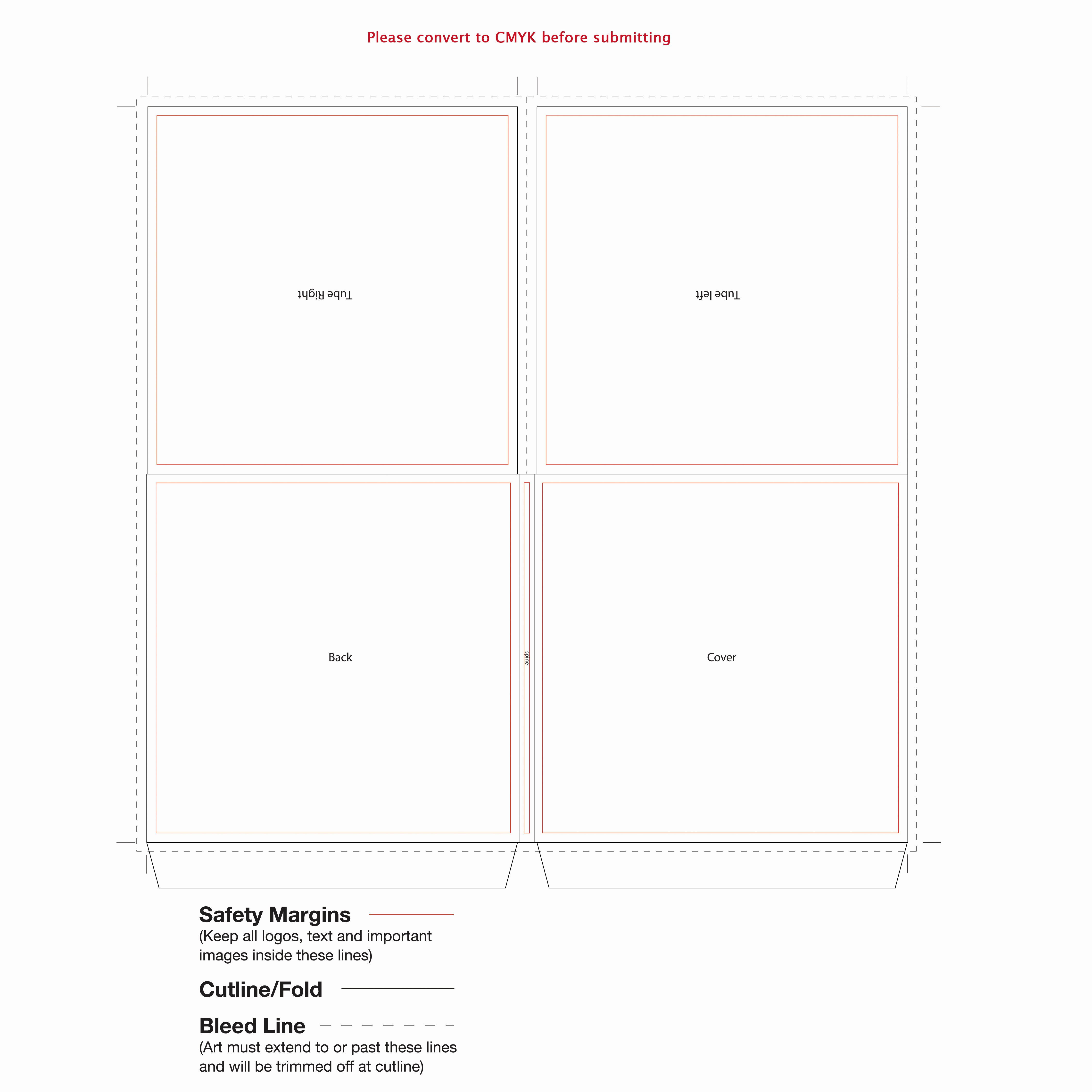 Cd Liner Notes Template Unique 4 Panel Cardboard Tube Sleeve Template for Cd Duplication