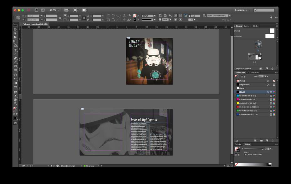 Cd Liner Notes Template Unique Shop Vs Illustrator Vs Indesign which Adobe
