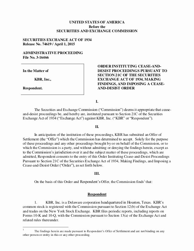 Cease and Desist order Template Best Of Securities and Exchange Mission Cease & Desist order