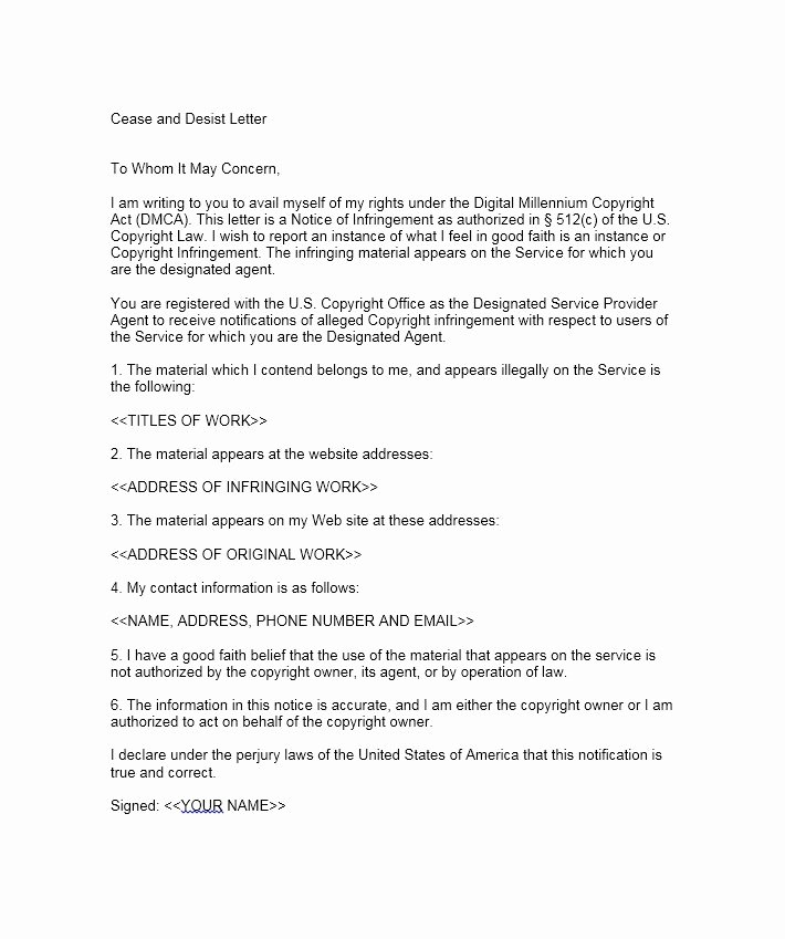 Cease and Desist order Template Luxury 30 Cease and Desist Letter Templates [free] Template Lab