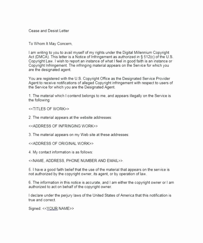 Cease and Desist order Template New Cease and Desist Letter Template for Debt Collectors