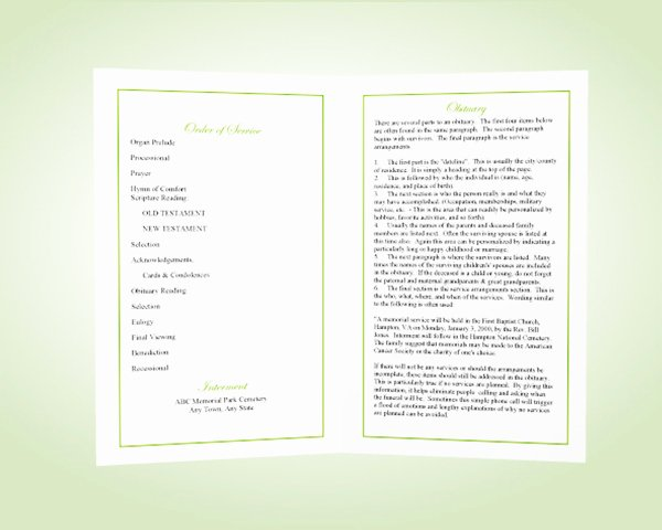 Celebration Of Life Program Template Awesome What is A Funeral Program Memorial Programs