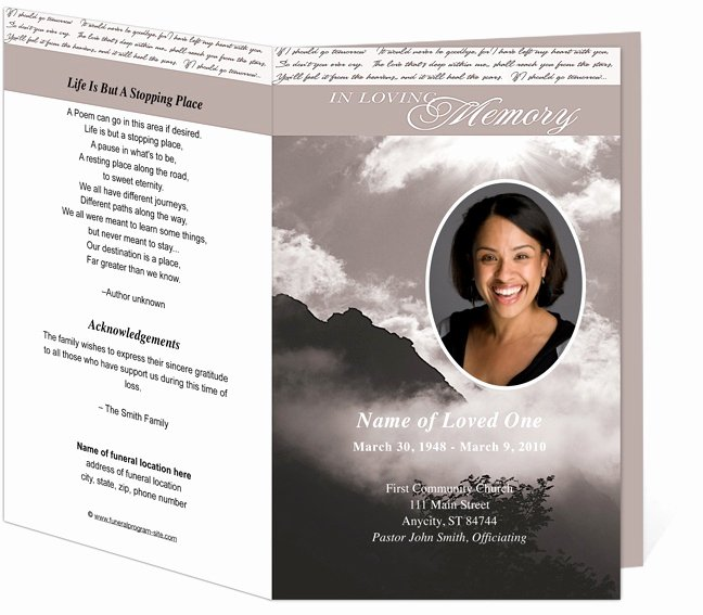 Celebration Of Life Program Template Beautiful 1000 Images About Memorial Programs On Pinterest