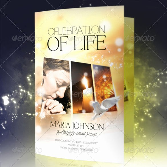 Celebration Of Life Program Template Best Of 32 Funeral Program Brochure Templates Psd Ai Word