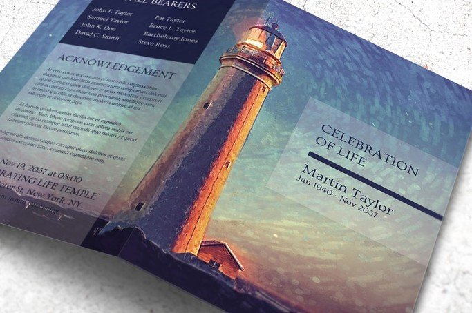 Celebration Of Life Program Template Best Of An Uplifting Memorial Program Celebration Of Life