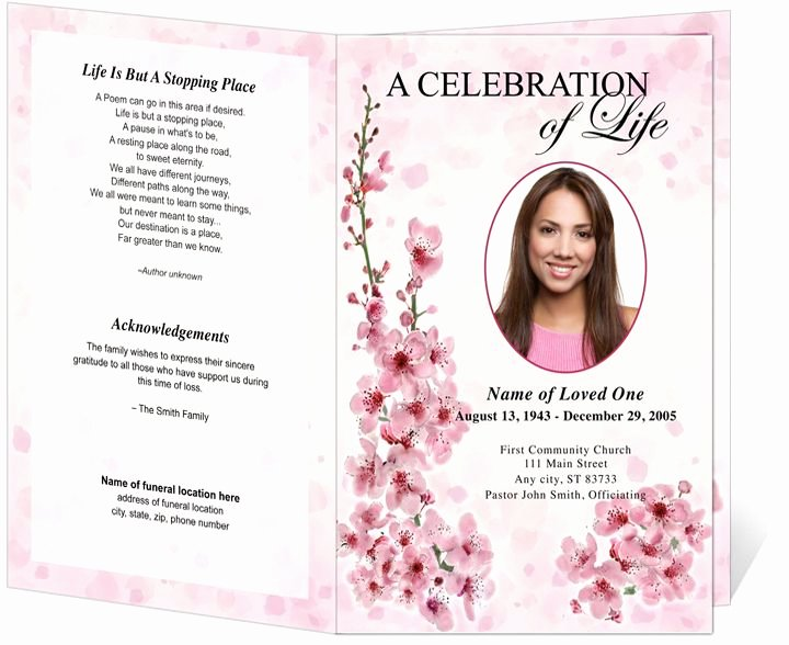 Celebration Of Life Program Template Inspirational Best S Of Black Funeral Obituary Cover Examples