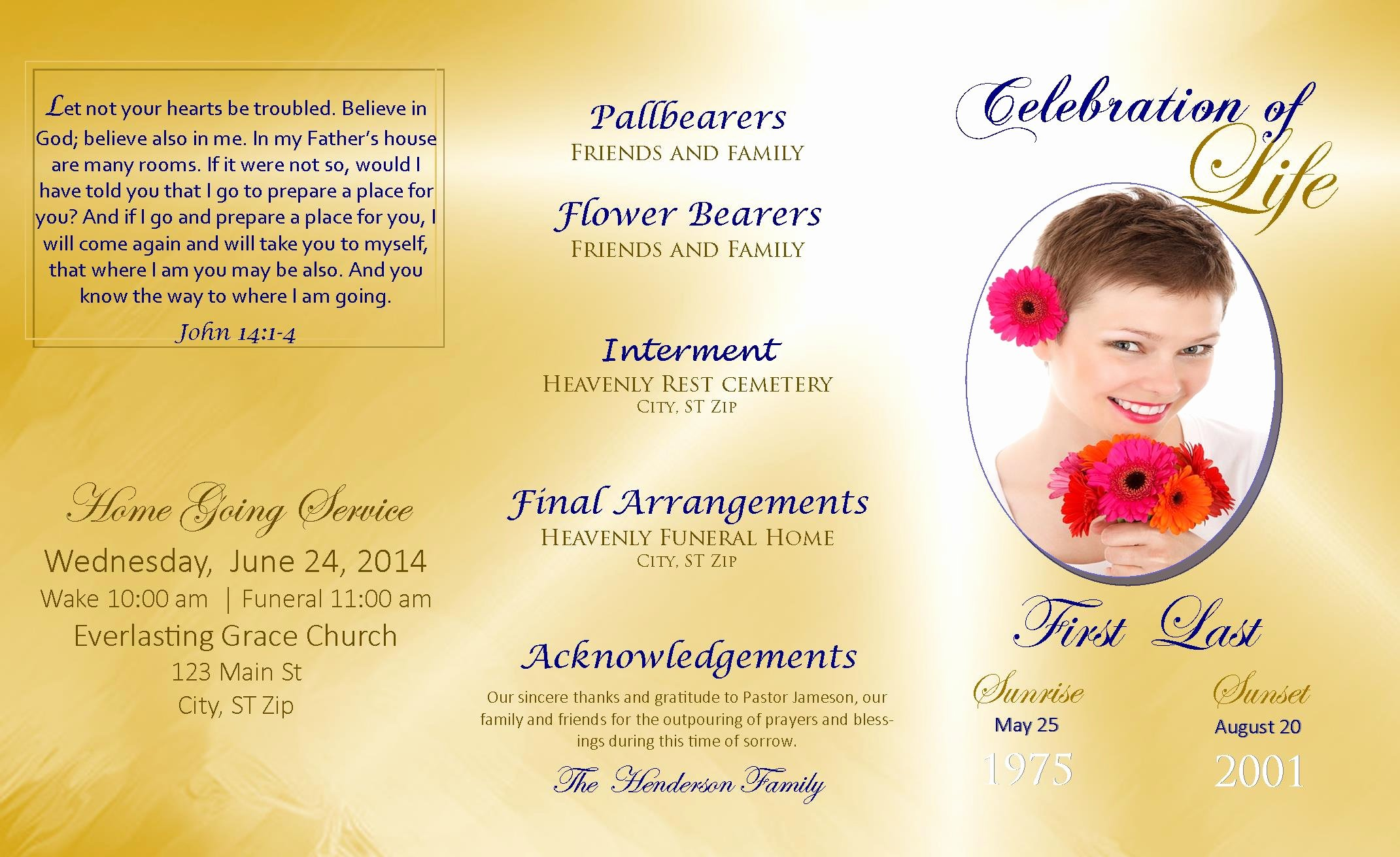 Celebration Of Life Program Template Inspirational Lifecycleprints Celebration Of Life & Funeral Program