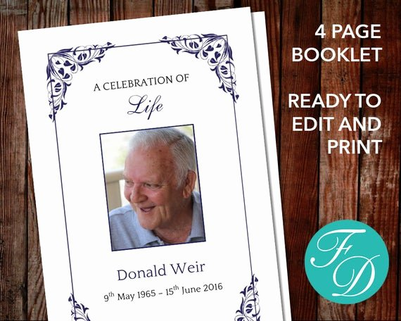 Celebration Of Life Program Template Lovely Funeral Program Template Celebration Of Life order Of