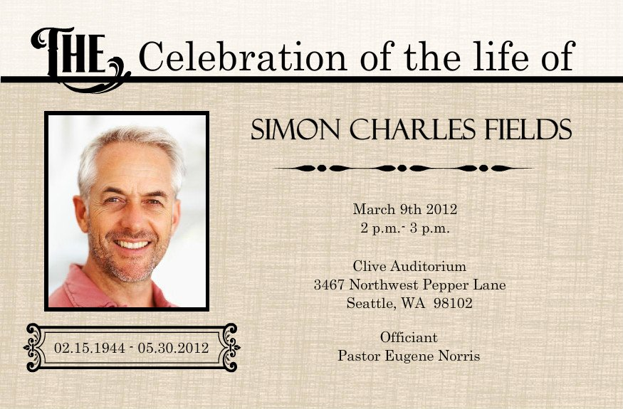 Celebration Of Life Template Free Beautiful 1000 Images About Celebration Of Life On Pinterest